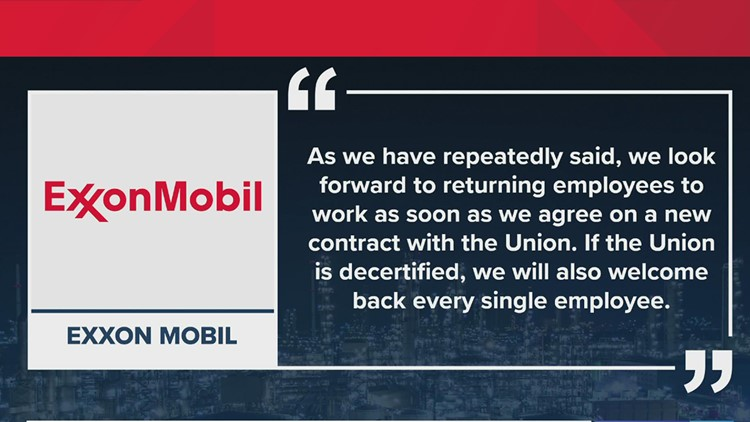 ExxonMobil: Employees won't lose jobs if they vote to decertify from United Steelworkers union