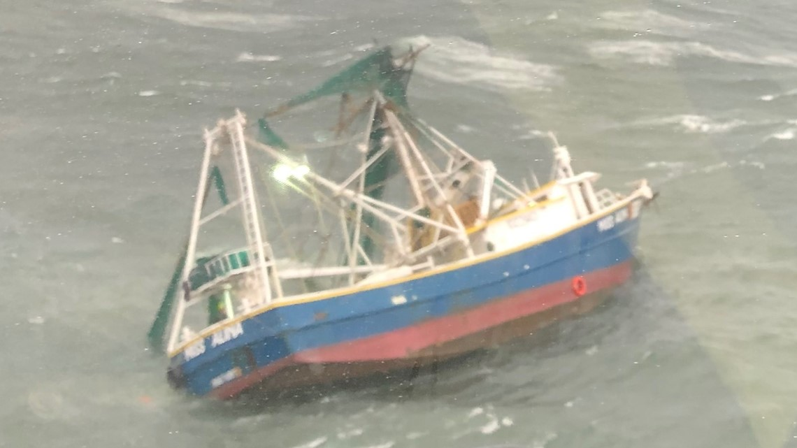 Coast Guard rescues shrimpers after boat struck by possible