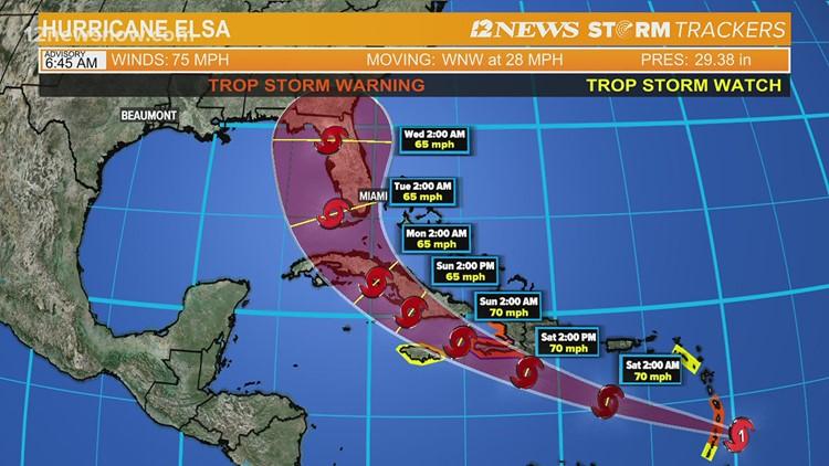 Elsa becomes hurricane