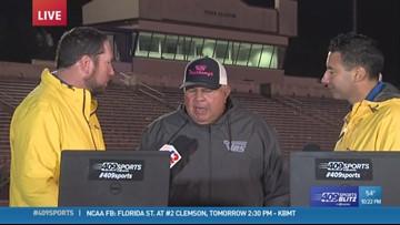 West Orange-Stark High School coach talks about 17-9 win over Silsbee