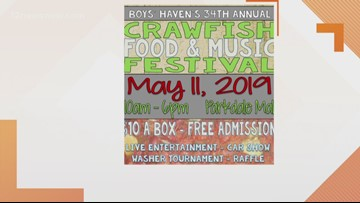 Get your crawfish on Saturday at the 34th Anuual Boys Haven Crawfish Festival