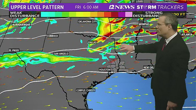 Cold front to stall over SE Texas Thursday