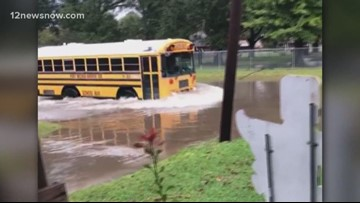 PN-G bus drives through high water