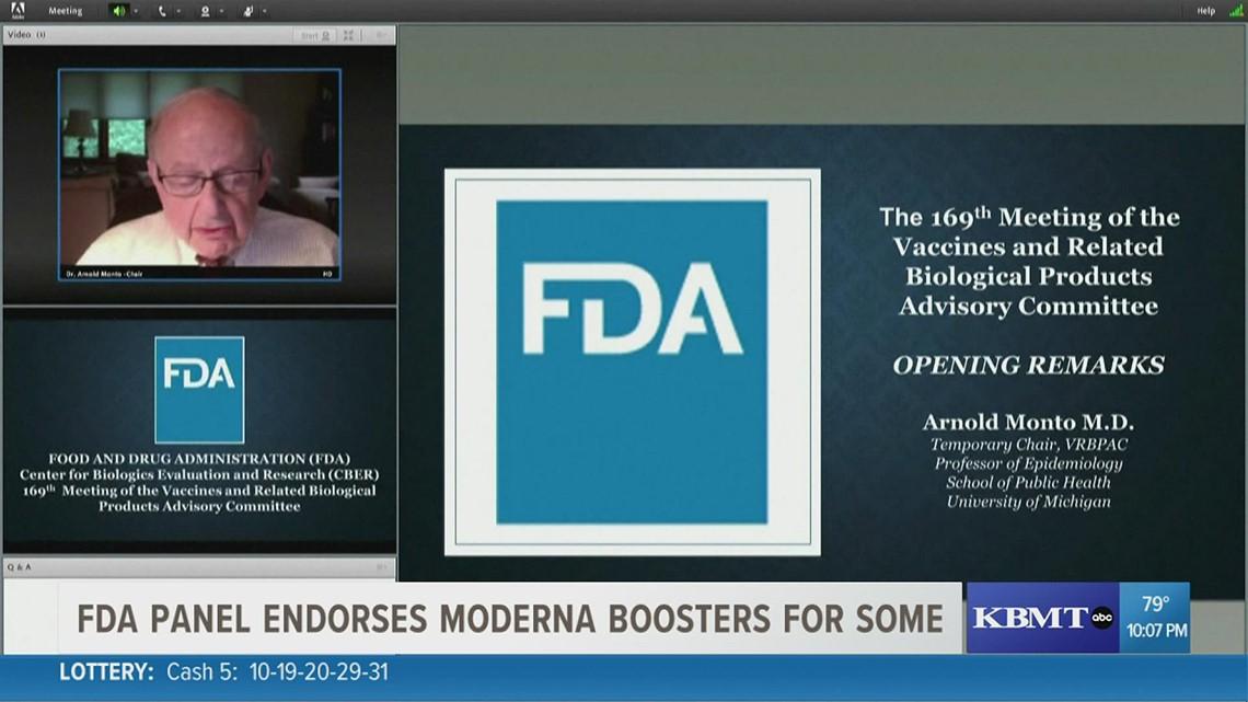 FDA panel endorses Moderna COVID-19 booster shot for seniors, high-risk groups