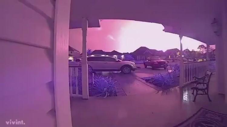 WATCH | Plant explosion caught on home surveillance videos