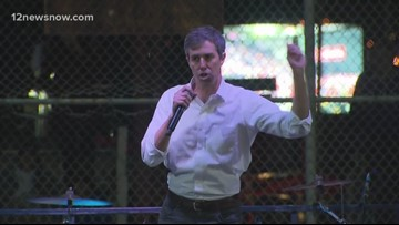 Beto O'Rourke holds counter rally in El Paso at the same time as President Trump's rally