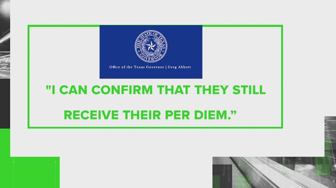VERIFY: Are Texas Democrats still receiving their $211 per diem while in Washington D.C.?