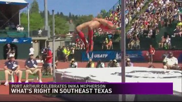 Port Arthur celebrates accomplishments of Olympian, hometown girl Inika McPherson