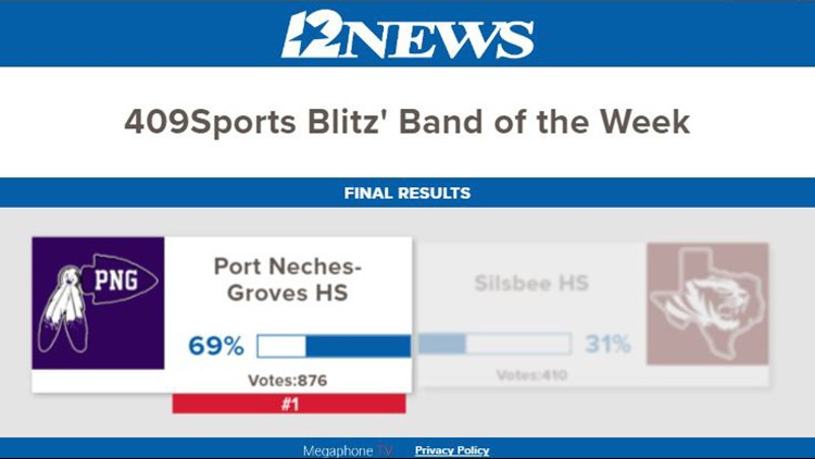 bandof the week port neches-groves