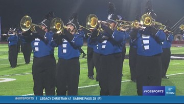 Vidor High School wins Band of the Week for week 8, passes award to Barbers Hill band in honor of their late director