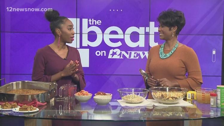 TAKE A LOOK at Anchor Erika Harris' Creole Crawfish Cornbreak Dressing