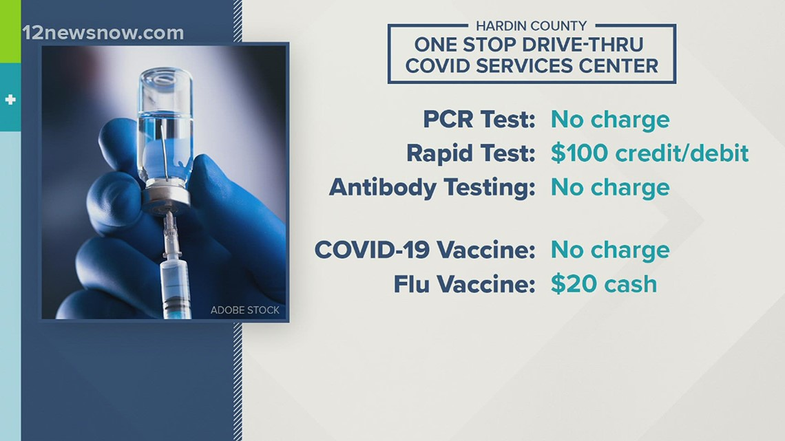 One-stop drive-thru clinic offering COVID, flu services in Hardin County