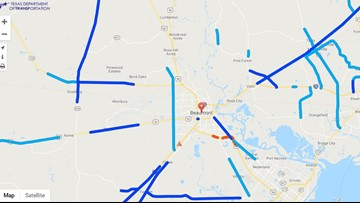MAP: These highways and interstates around Beaumont are closed