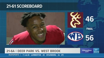 WEEK 10: 409Sports takes a second look at the Game of the Week as West Brook beats Deer Park 56 - 46