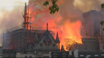 Beaumont Catholic church bears similarities to Notre Dame in Paris