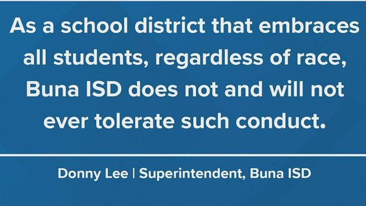 Buna ISD responds to 'racist and inflammatory' photo of student on social media