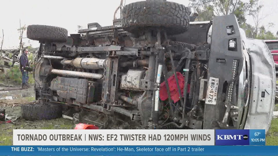 Severe damages reported in Orange County areas south of Hwy 12 after EF2 tornado