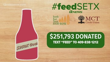 12News, Southeast Texas Food Bank reach goal of $250K to feed local families