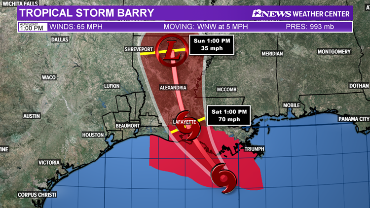 4PM TS BArry track July 12, 2019