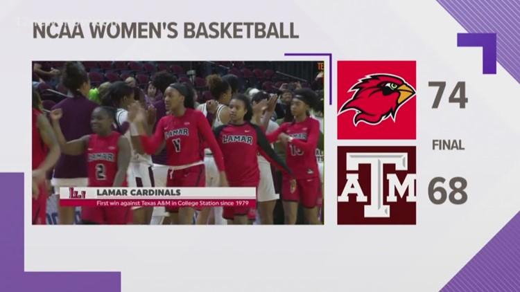 Lamar women upset #17 Texas A&M