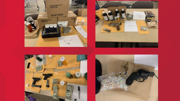 BPD Drug Bust items from North Beaumont home