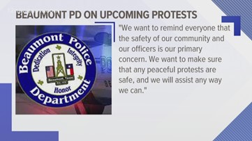 Beaumont Police warn protestors to remain peaceful after social media post threatens to destroy property