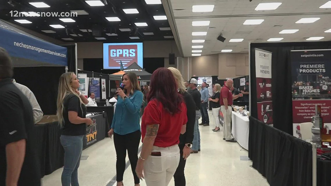 Companies network at Port Arthur Chamber of Commerce's 4th annual industry trade fair