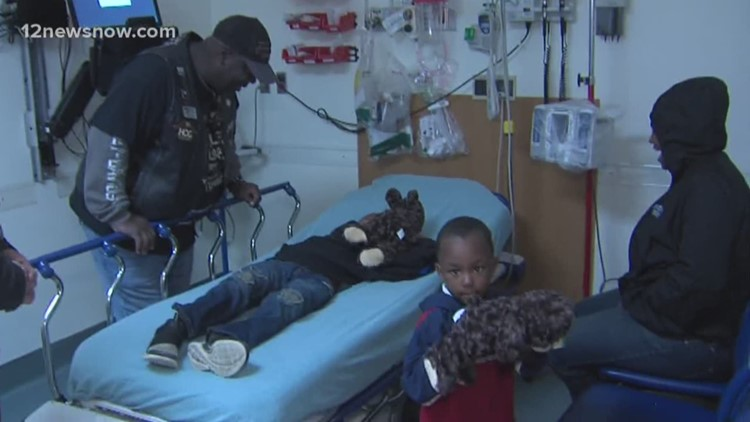 bikers bring teddy bears to children at baptist hospital in beaumont