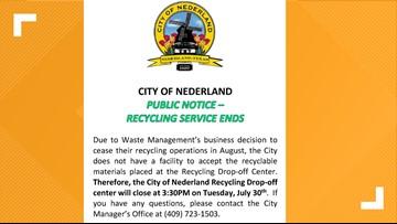 City of Nederland announces closure of recycling drop-off center