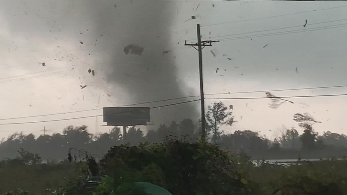 Raw Video : Woman in critical condition after tornado flips over trailer near Little Cypress