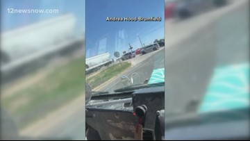 Midland County deputy vehicle hit by train in dramatic video