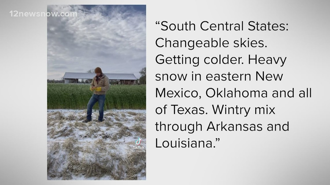 VERIFY: Did the Farmers' Almanac predict the storm that's hitting the South Central US?