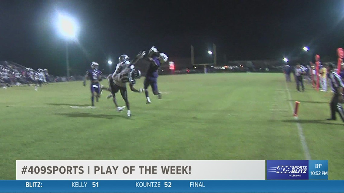 Newton High School's Maliek Woods connects with Trinis Wash for a TD in the Play of the Week
