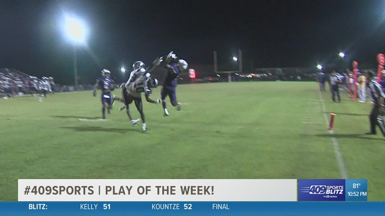 Newton High School's Maliek Woods connects with Trinis Wash for a TD in the week 4 Play of the Week