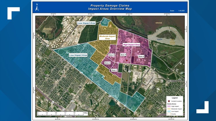 Property Damage Claims Impact Areas Overview Map
