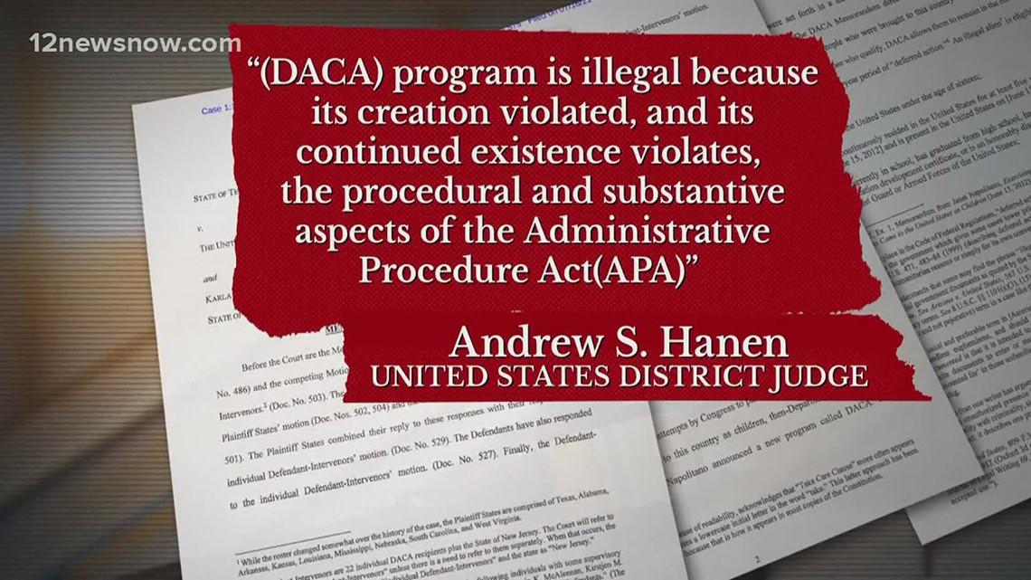 Texas federal judge ruled DACA program illegal Friday