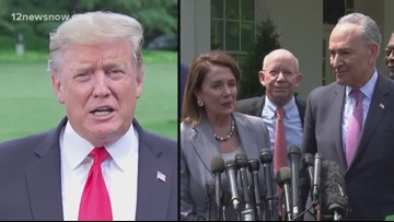 President Trump expecting to meet with Nacy Pelosi and Chuck Schumer to discuss the country's infrastructure
