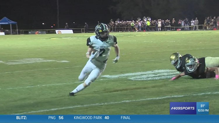 Vidor High School's Weston Sepulvado picks up the two point conversion in the week 8 Play of the Week