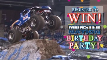 Win 4 seats to the Monster Nation monster truck show, family 4 pack to Elise's Fun Center