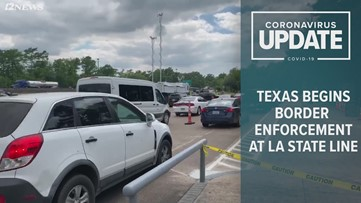 DPS checkpoint at Louisiana state line
