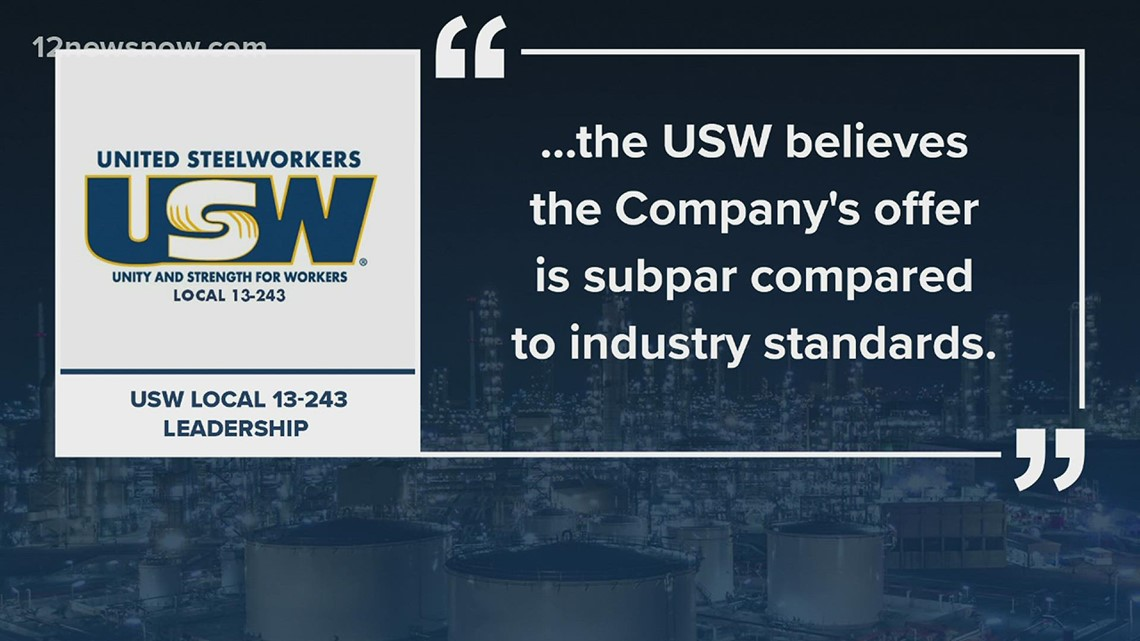 USW union asking members to vote 'no' to the latest offer from ExxonMobil