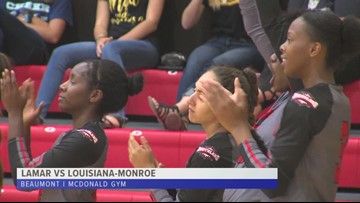 Lamar volleyball sweeps Louisiana-Monroe