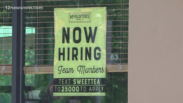 Businesses in Southeast Texas now hiring, struggling to fill positions