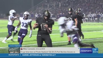 Port Neches-Groves High School's Ja'Colby Smith-Barber makes the Hit of the Week for week 6