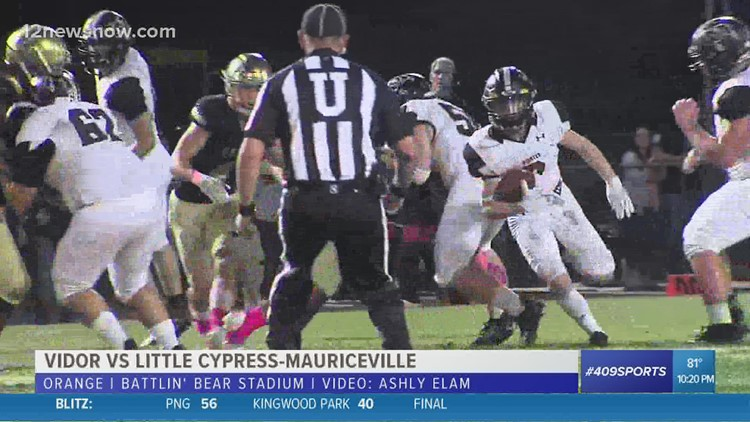 Vidor High School remains undefeated after 29 - 12 win over LC-M
