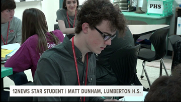 Lumberton HS student goes above and beyond inside, outside the classroom