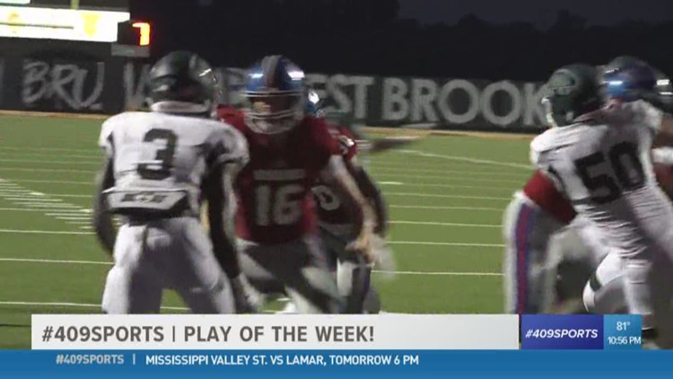 Westbrook High School's Troy Yowman and Jordan Guidry team up for the Play of the Week