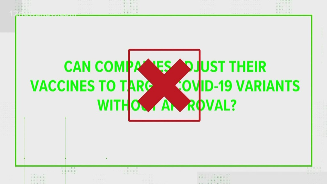 VERIFY: Can companies adjust their vaccines to target COVID-19 variants without approval?