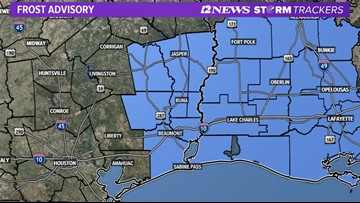 Frost advisory, freeze warning issued as temps plunge across Southeast Texas
