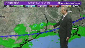 Rising rain chances by Sunday in SE Texas